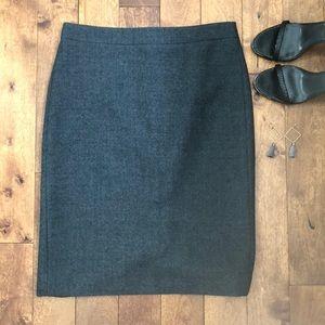 J. Crew Charcoal Gray No. 2 Pencil Skirt, Size 2